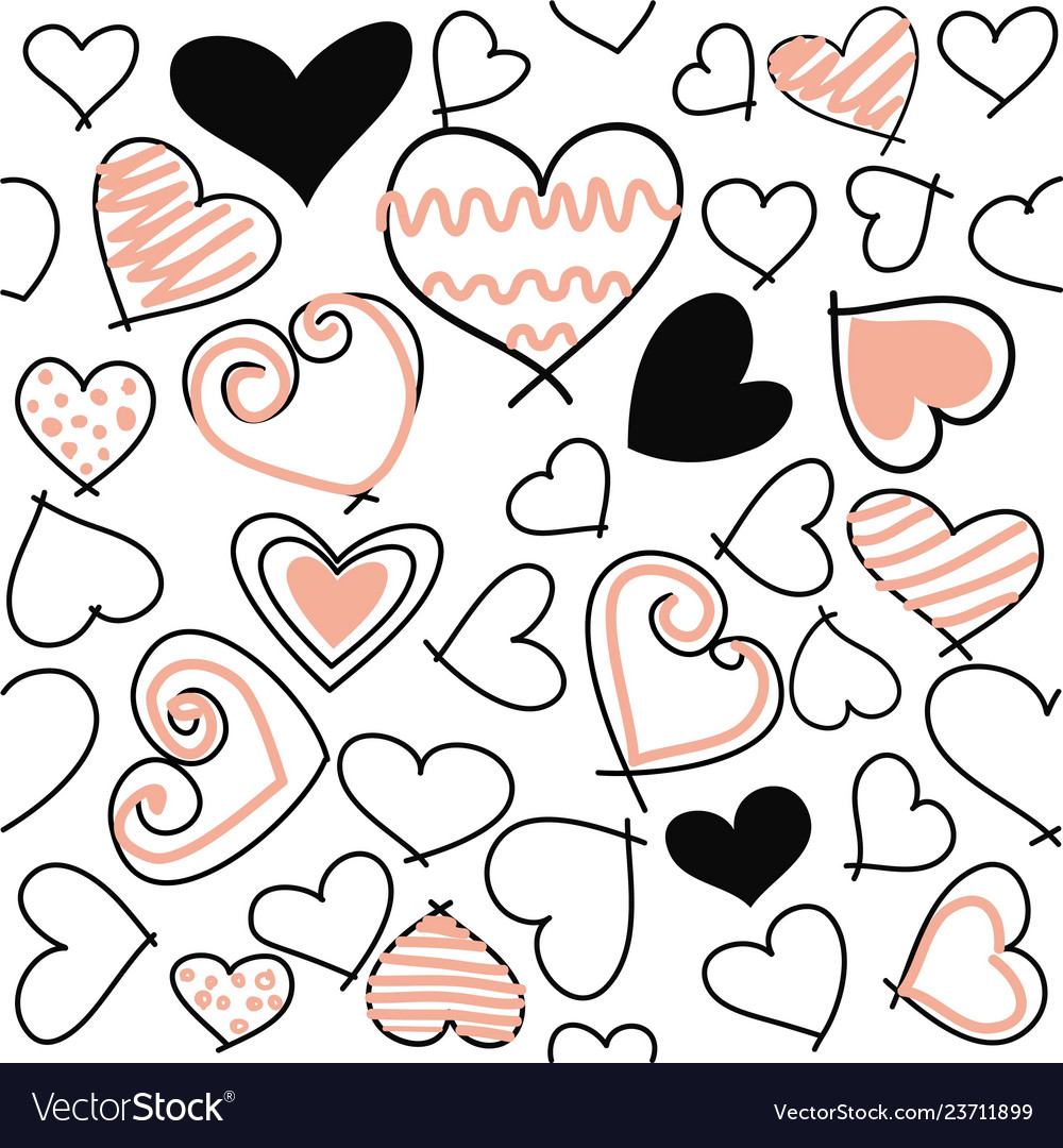 Abstract seamless love pattern valentines day card
