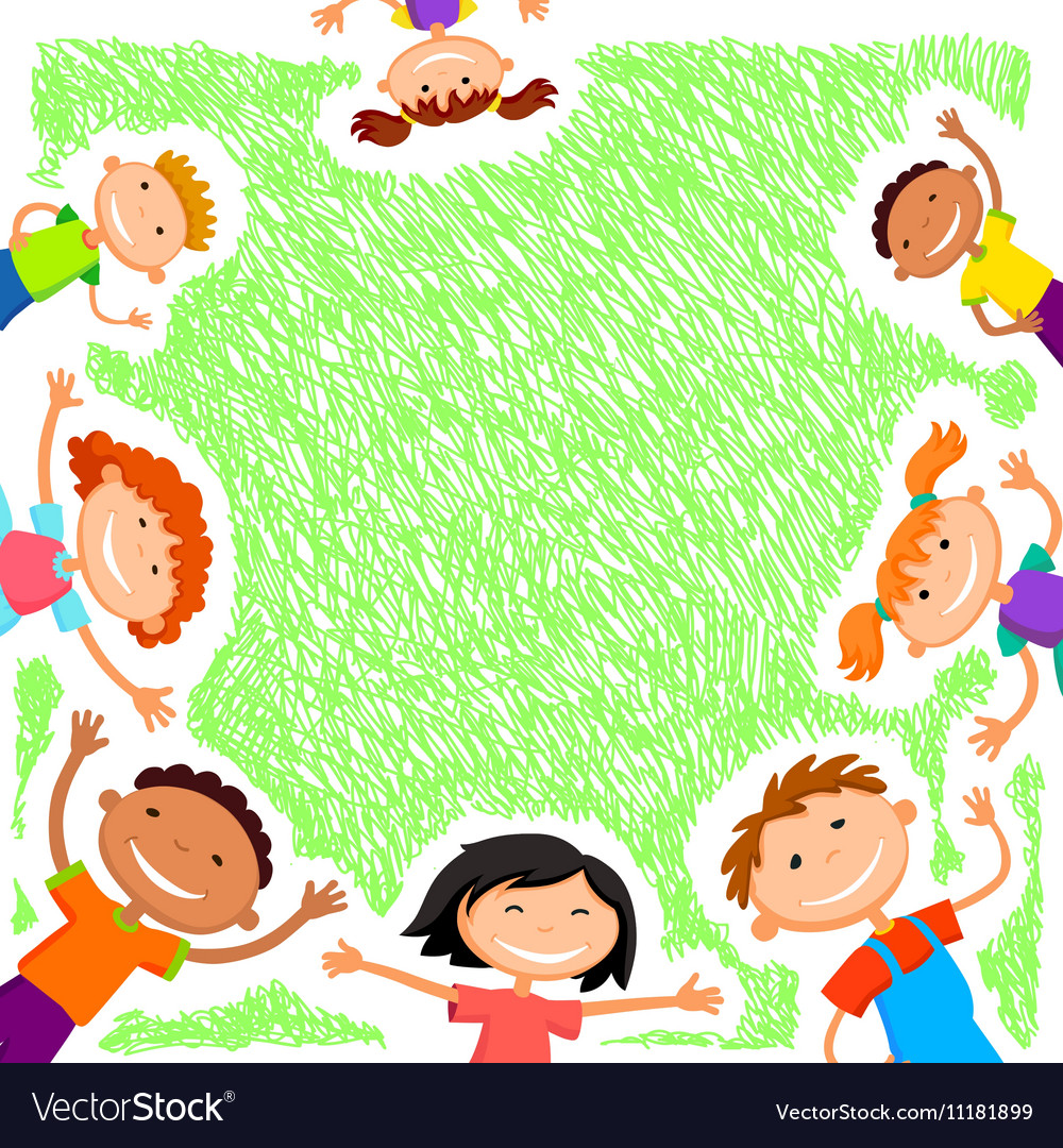 background blank with kids summer camp royalty free vector