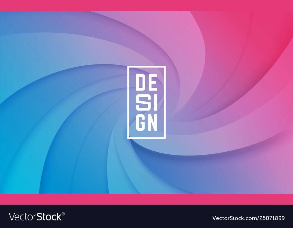 Colorful shapes composition trendy paper cut