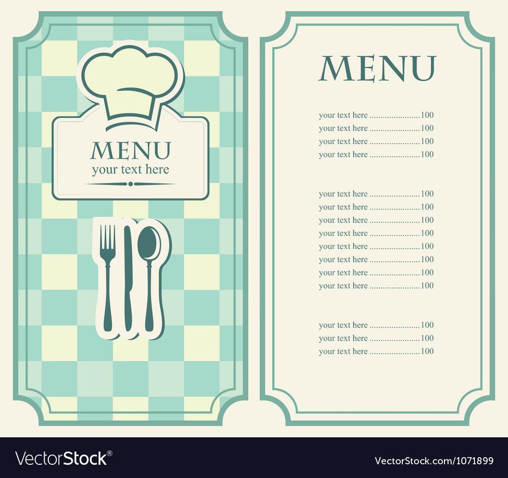 Green menu vector image