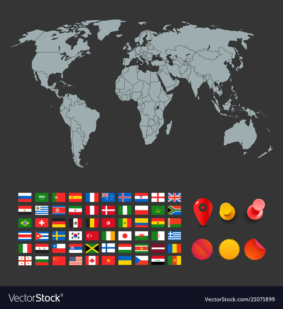 Infographic elements for design world map and