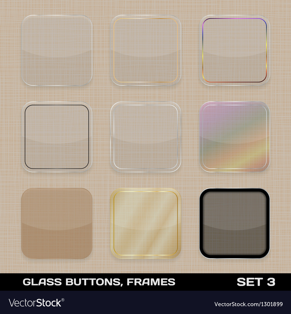 Set Of Colorful App Icon Frames Templates Buttons