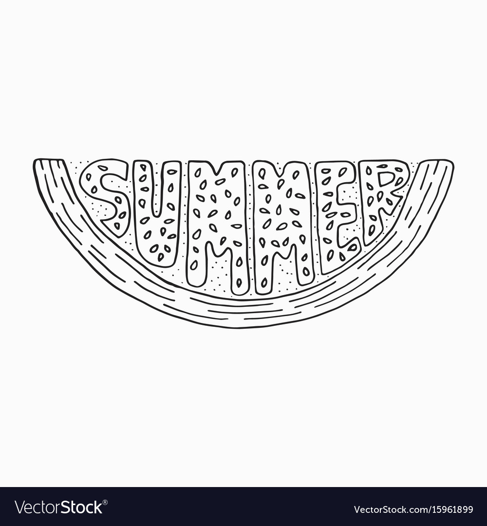 unique lettering poster with a word summer vector image