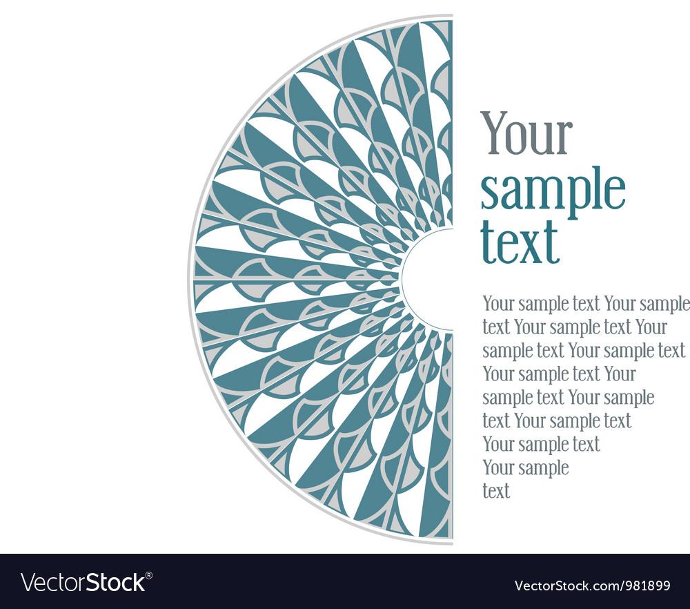 Vintage design blue pattern vector image