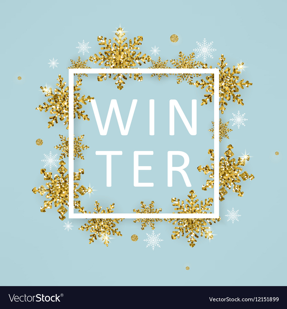 Winter poster template
