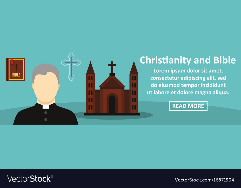 Christianity And Bible Banner Horizontal Concept Vector Image