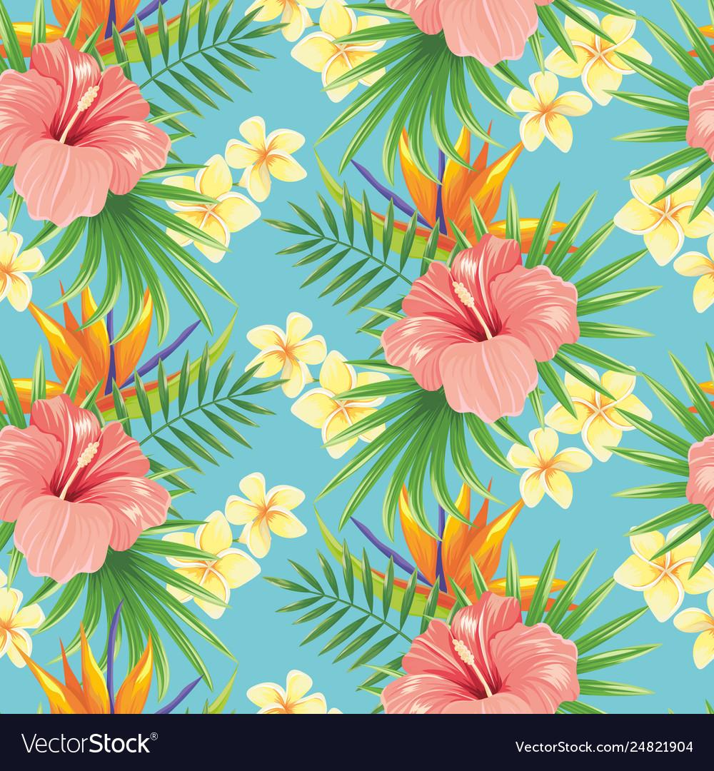 Flowers seamless pattern stylish spring flower