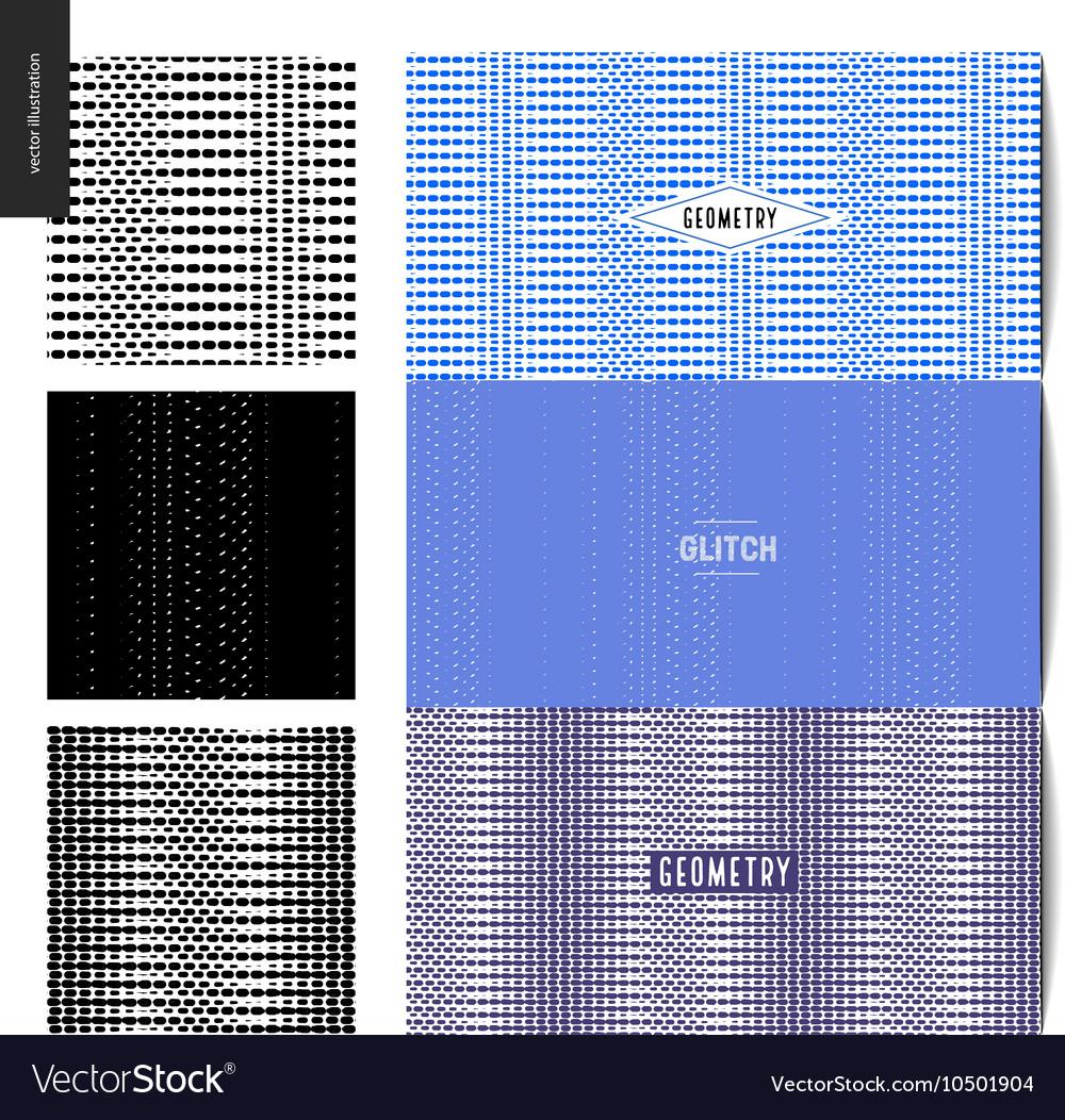 Glitch patterns set
