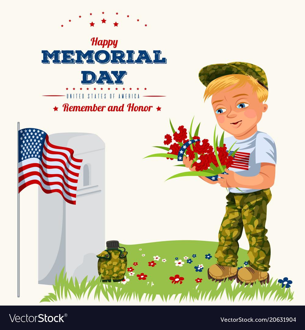Memorial day background american veterans lay