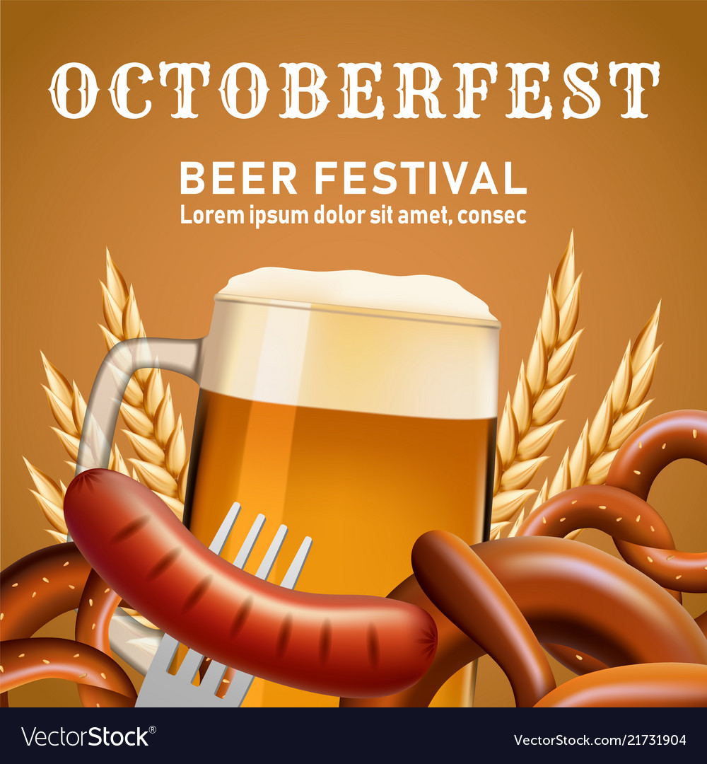 Octoberfest fectival concept background realistic