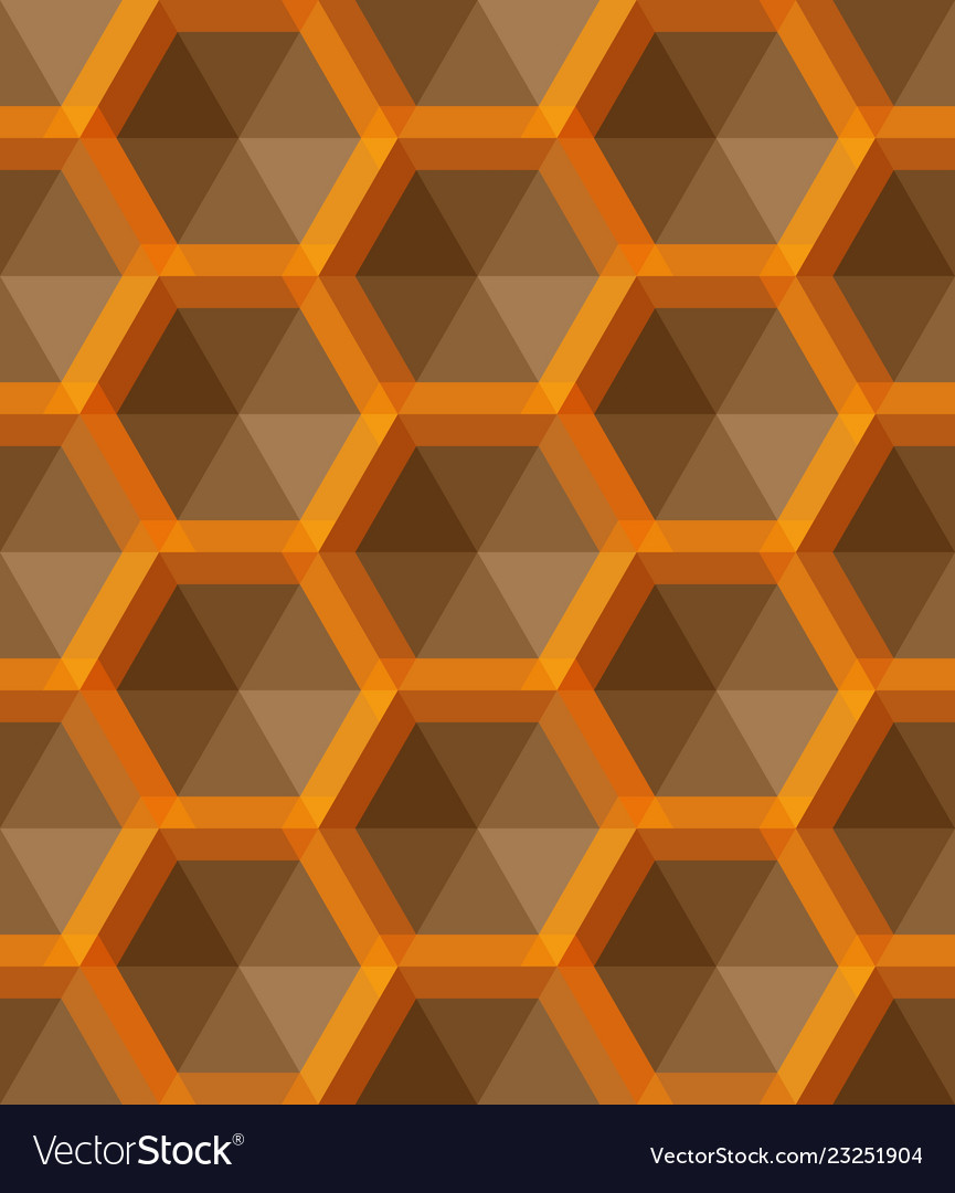 Ornament with small yellow hexagons hexagonal