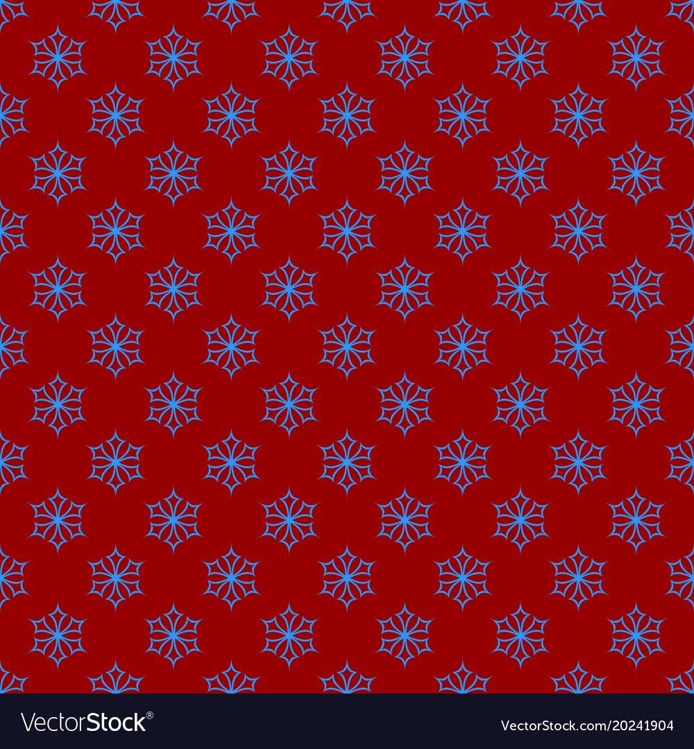 Simple repeating geometrical snowflake pattern vector image