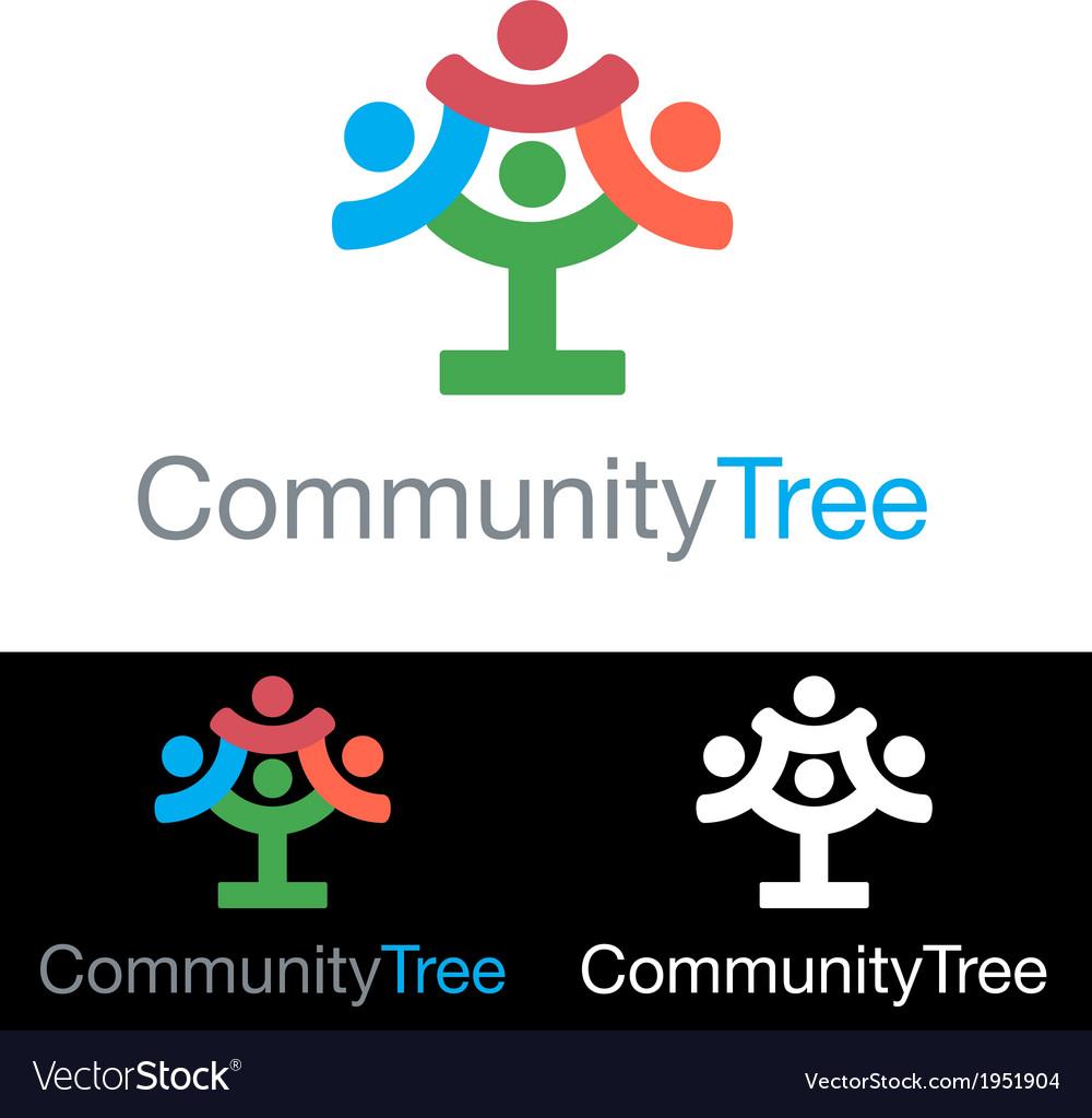 Social community health company icon logo vector image