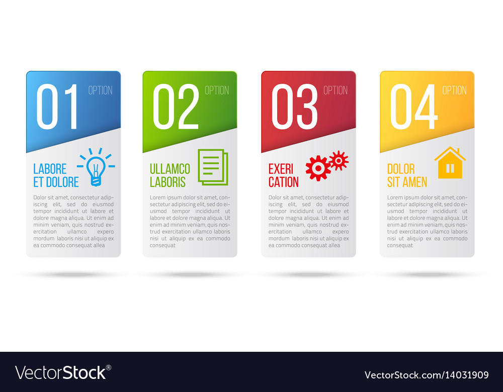 5 steps process infographics card design