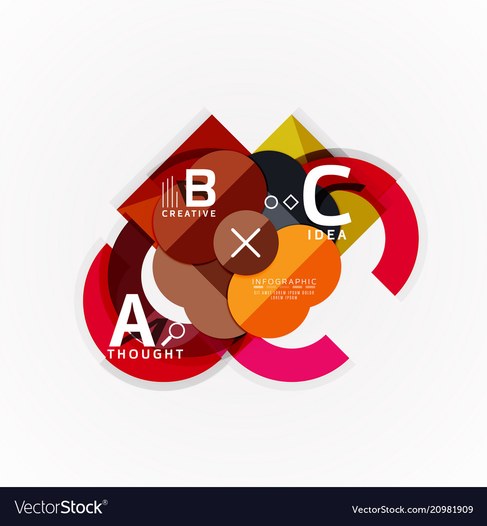Abstract geometric option infographic banners a b
