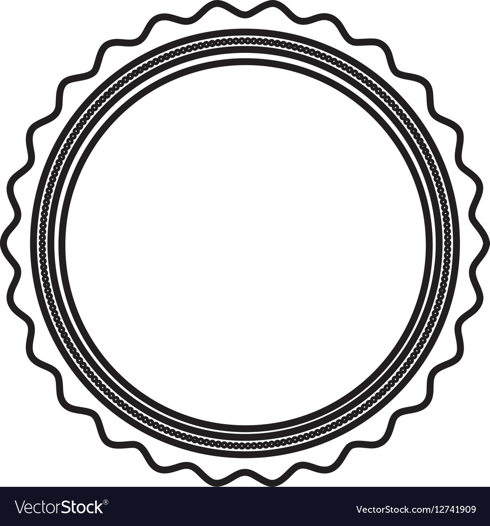 Circle seal stamp icon