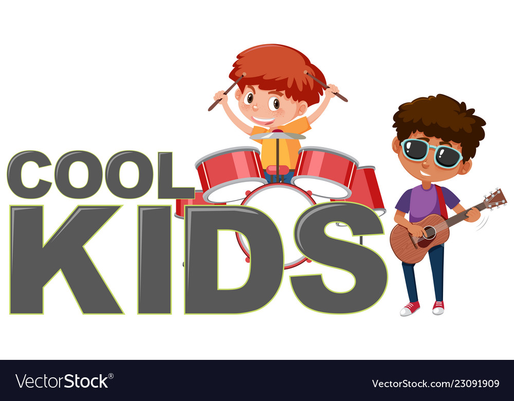 Cool kids icon on white background