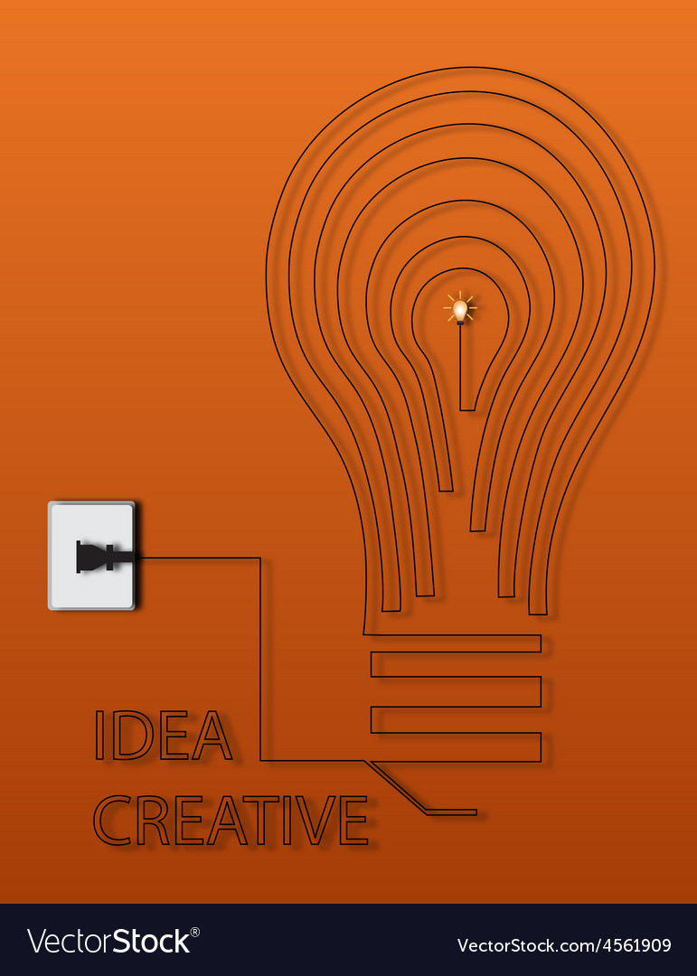 Creative light bulb idea abstract