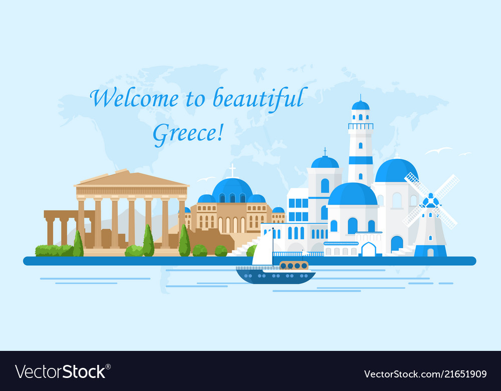 Greece travel concept