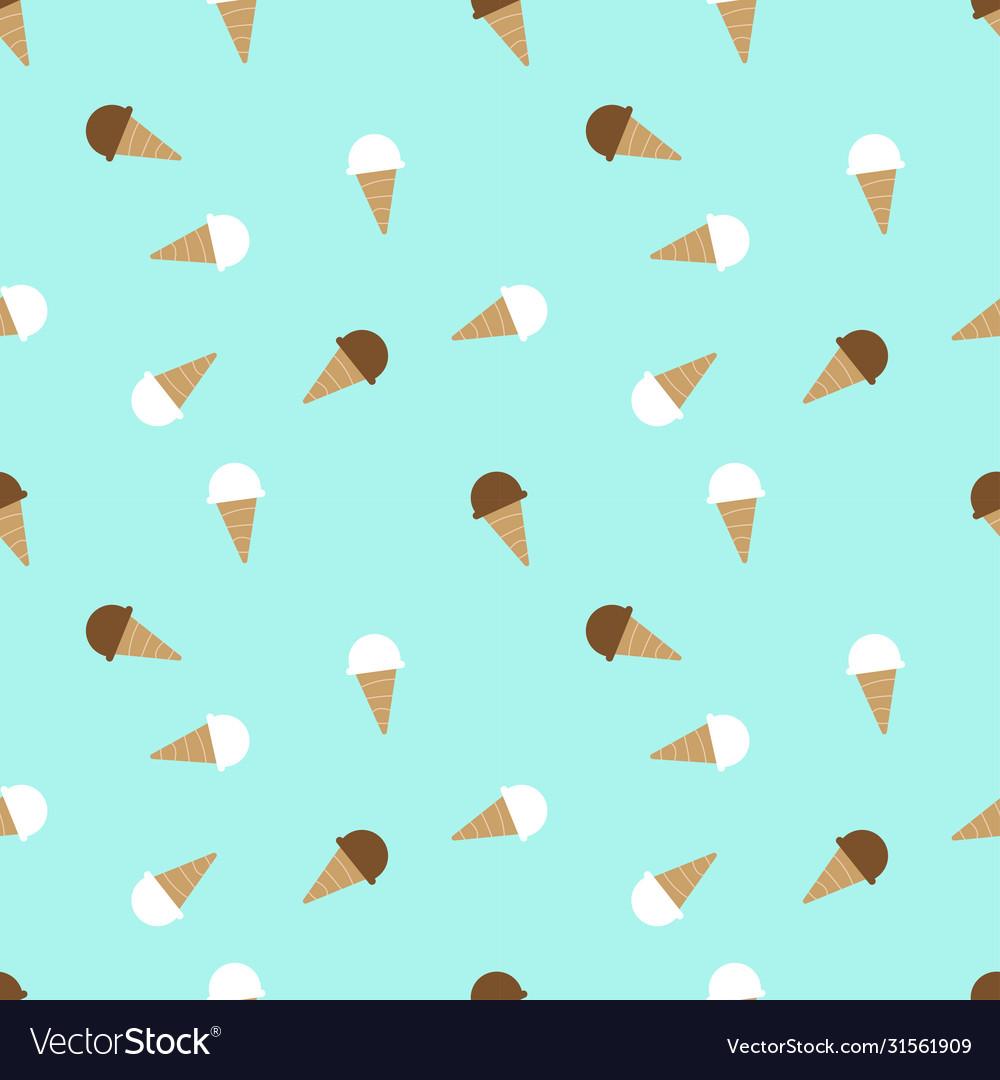 Ice cream pattern seamless background