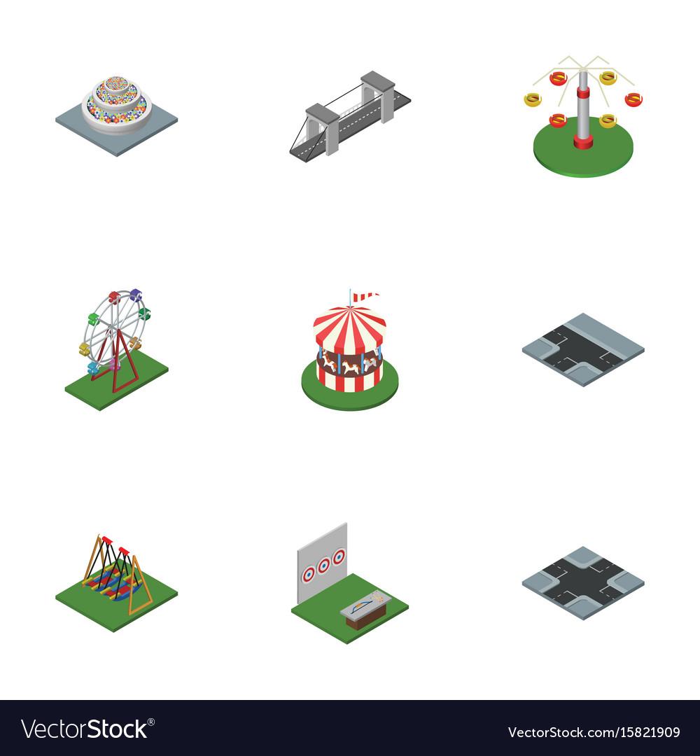 Isometric city set of crossroad seesaw aiming