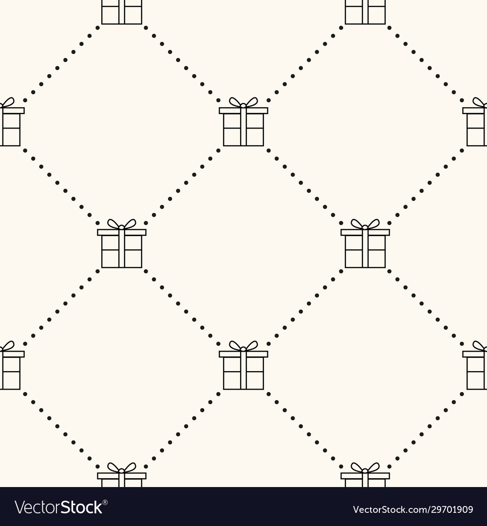 Seamless geometric pattern with flat gift vector