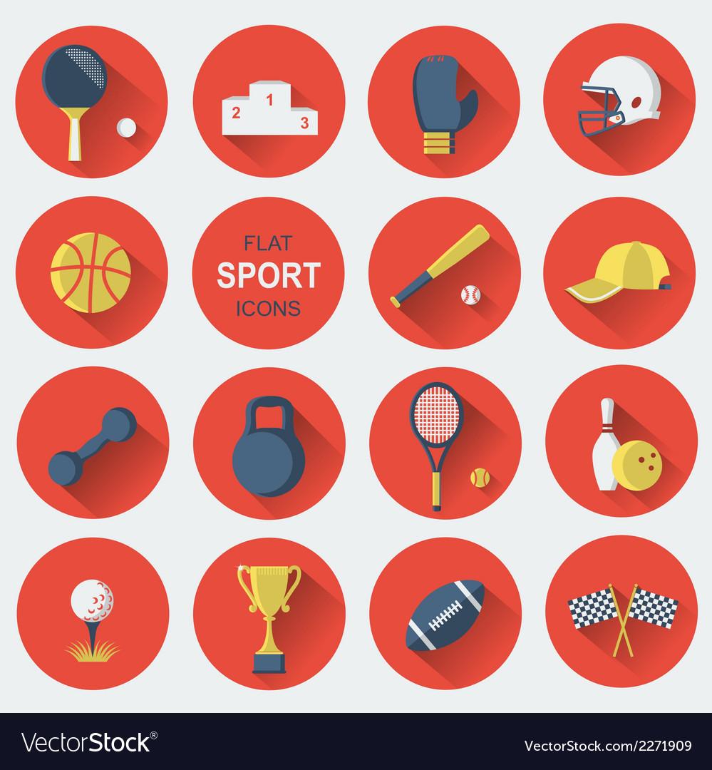Sport equipmentsflat icons