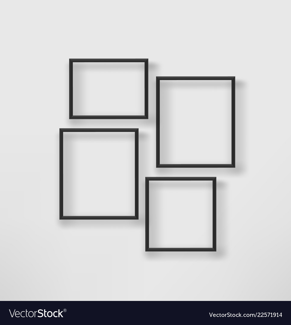 White Wall Template Vector Image