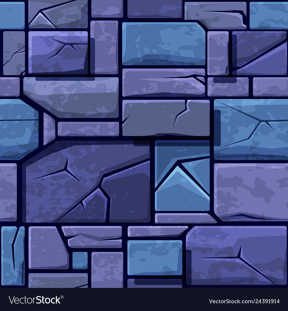 Seamless Texture Old Blue Stone Background Vector Image