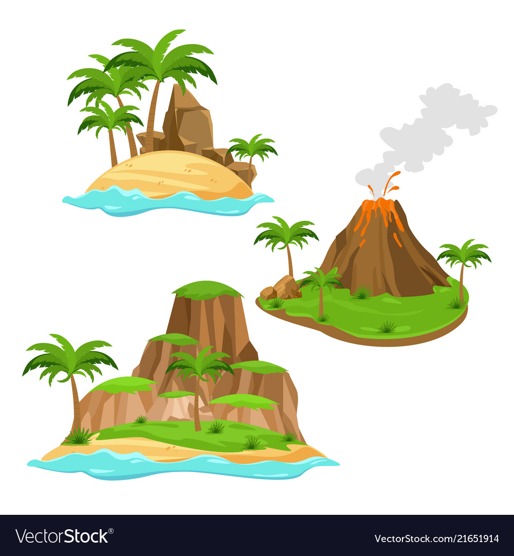 Three different islands on
