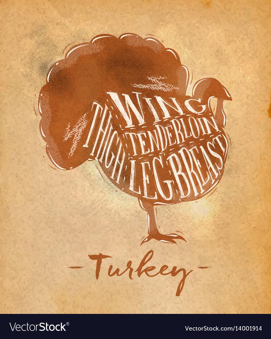 Turkey cutting scheme craft