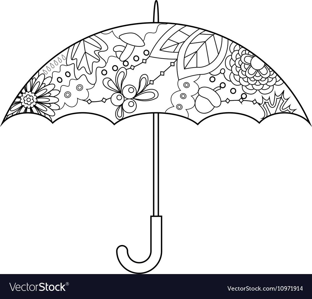Umbrella coloring vector image