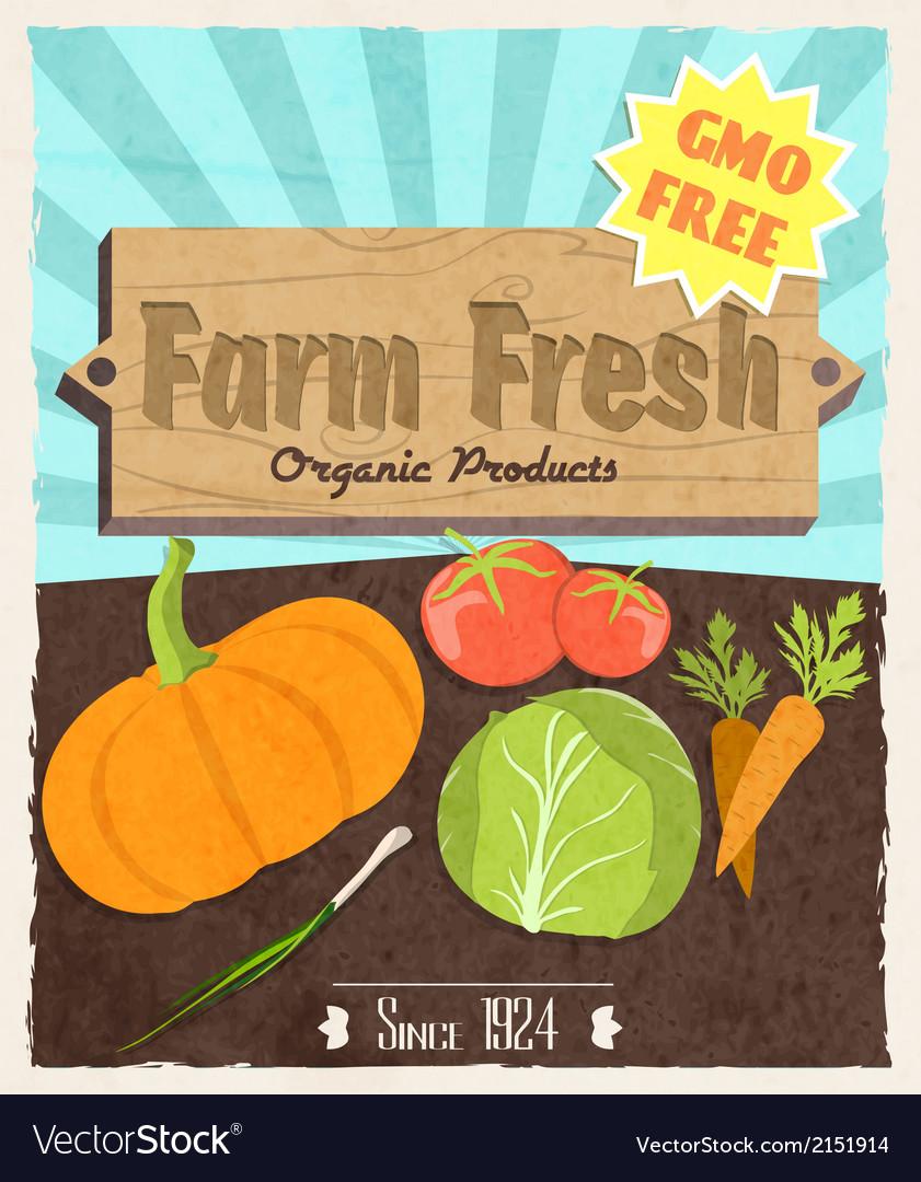 Vegetable retro poster
