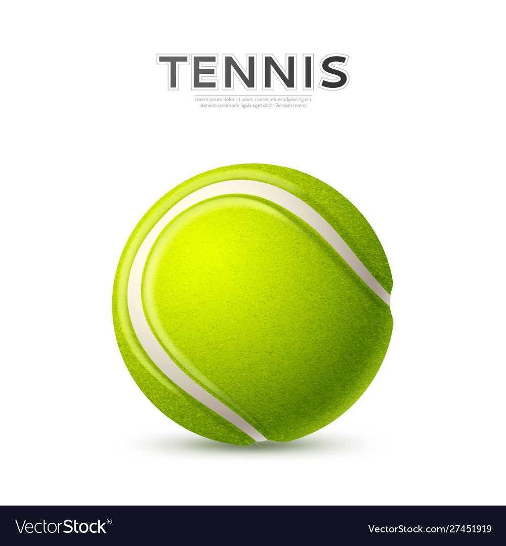 3d tennis ball green with curved line
