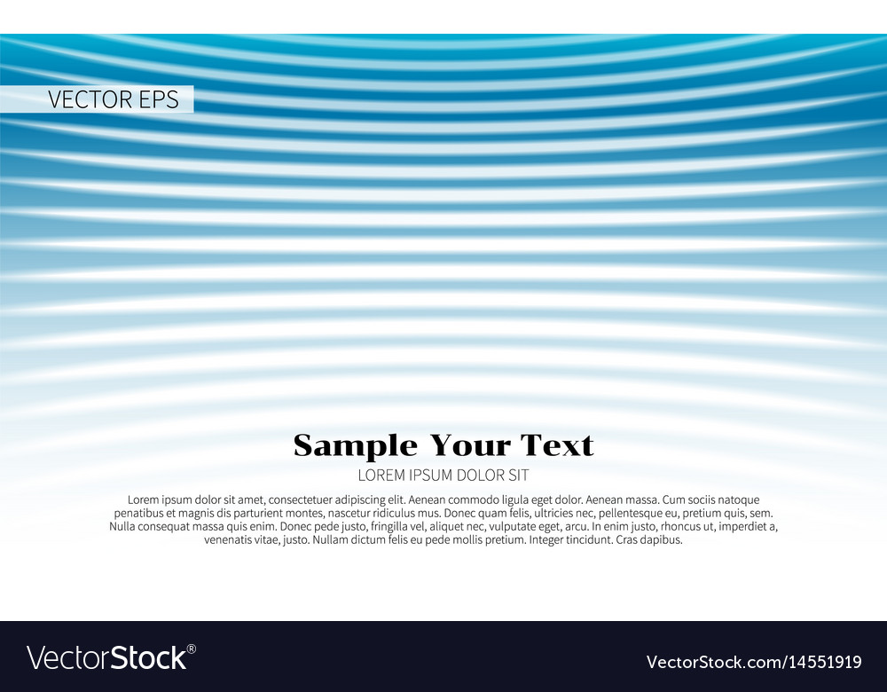 Abstract blue wave design elements
