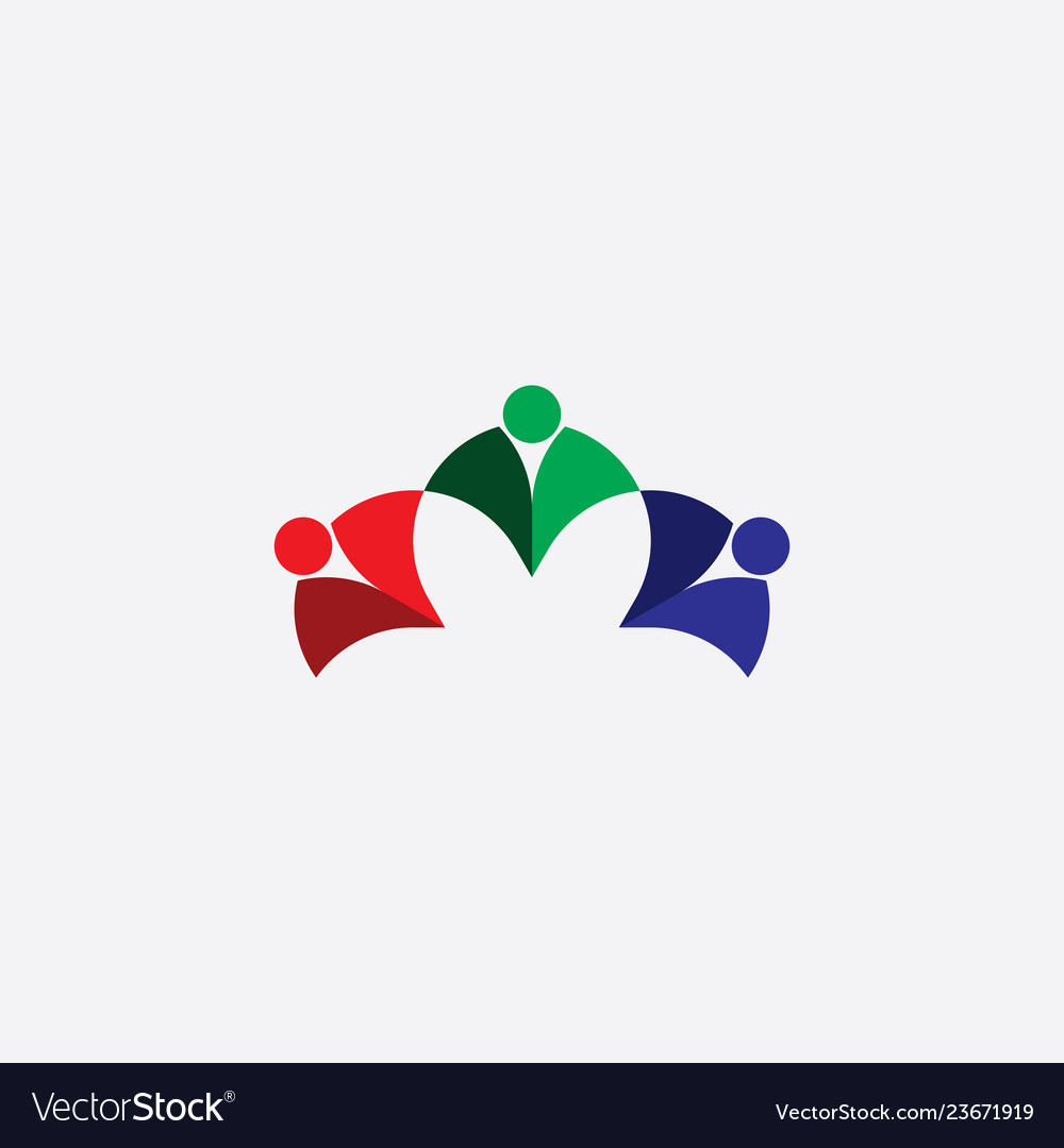 Abstract business people logo rgb icon