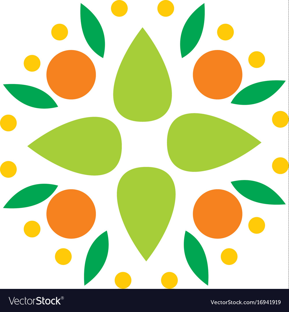 Abstract fruit vegetable logo