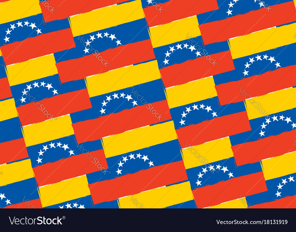 Abstract venezuela flag or banner