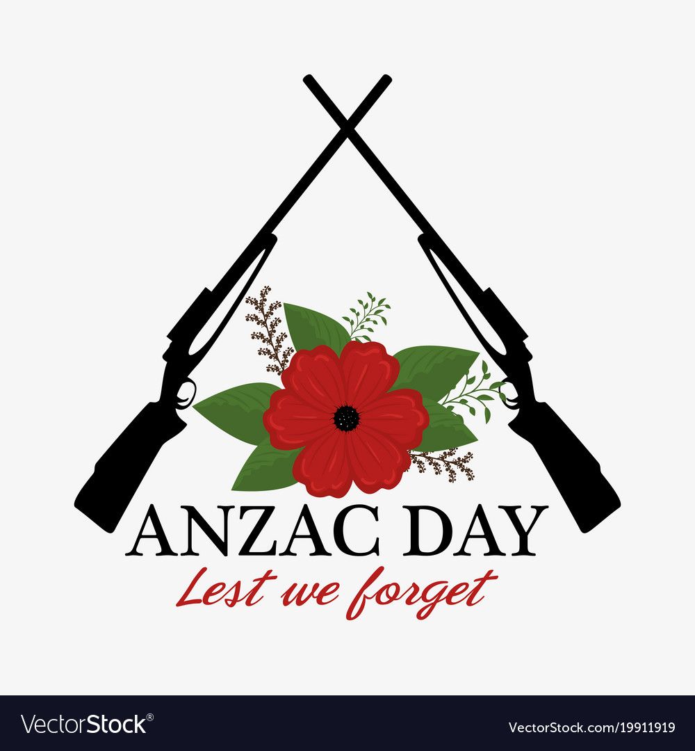 Anzac day poster with red poppy flower royalty free vector anzac day poster with red poppy flower vector image mightylinksfo