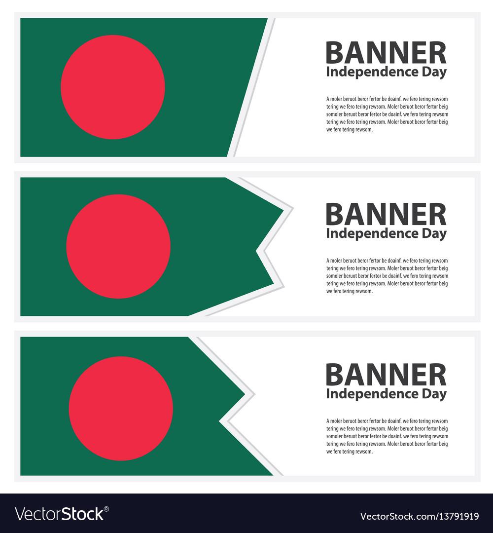 Bangladesh flag banners collection independence
