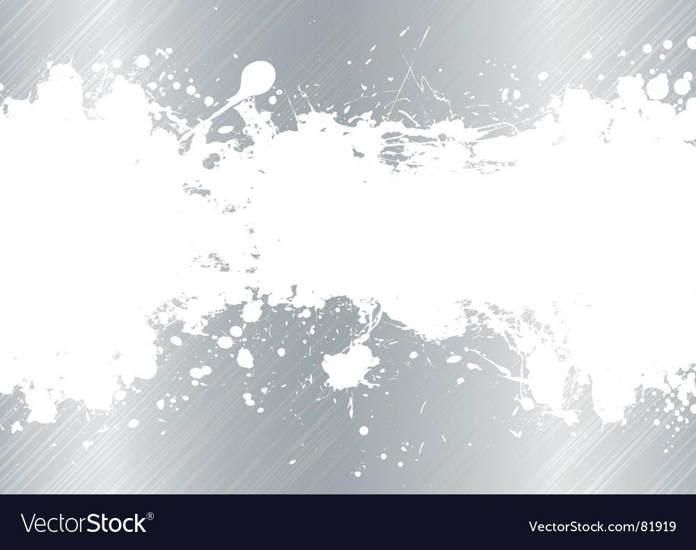Brushed metal ink splat vector image