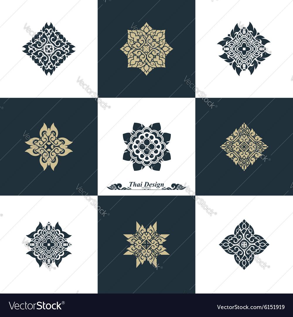 Design Luxury Template Set Swash Elements Art Vint