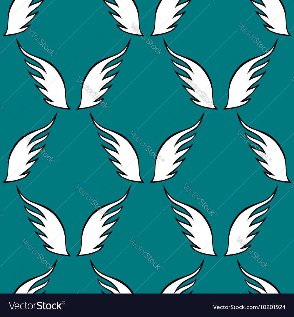 Angel white wings sketch pattern