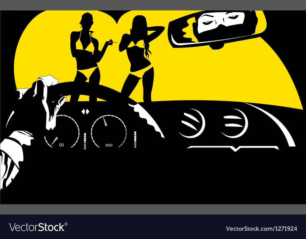 Arthouse movie poster vector image