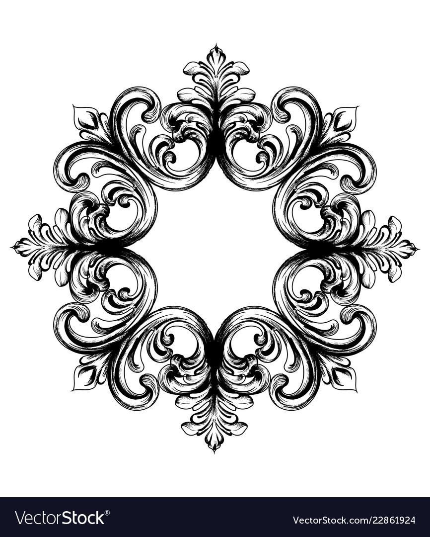 Baroque vintage ornament decorative design