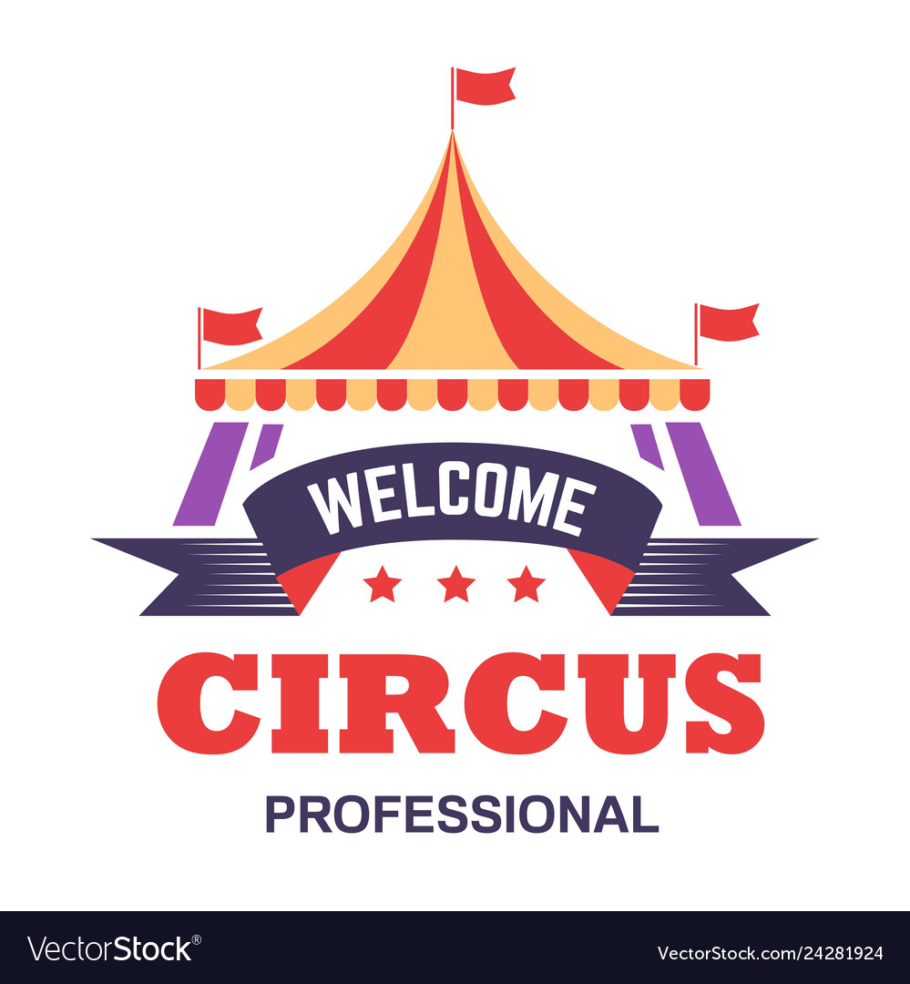 Circus show isolated icon big top tent fun fair