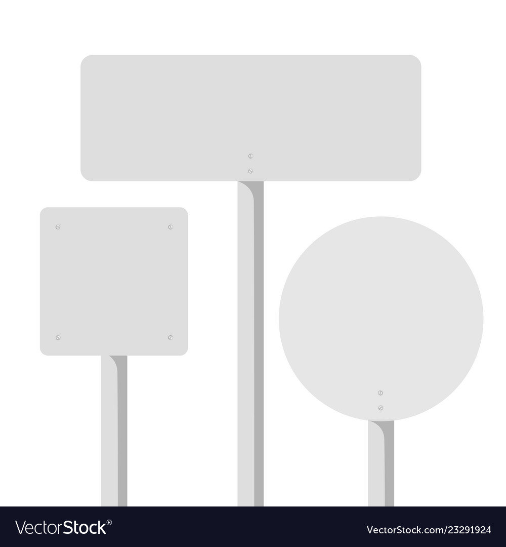 Empty road sign banner template