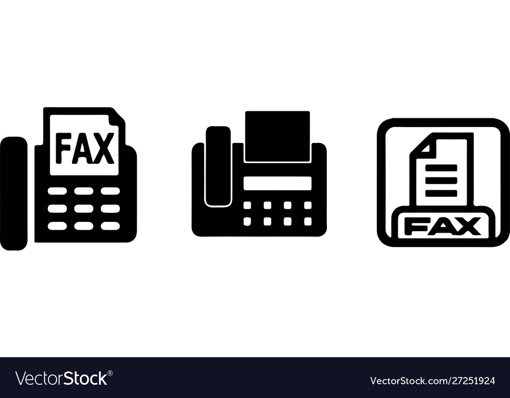 fax icon on white background royalty free vector image vectorstock