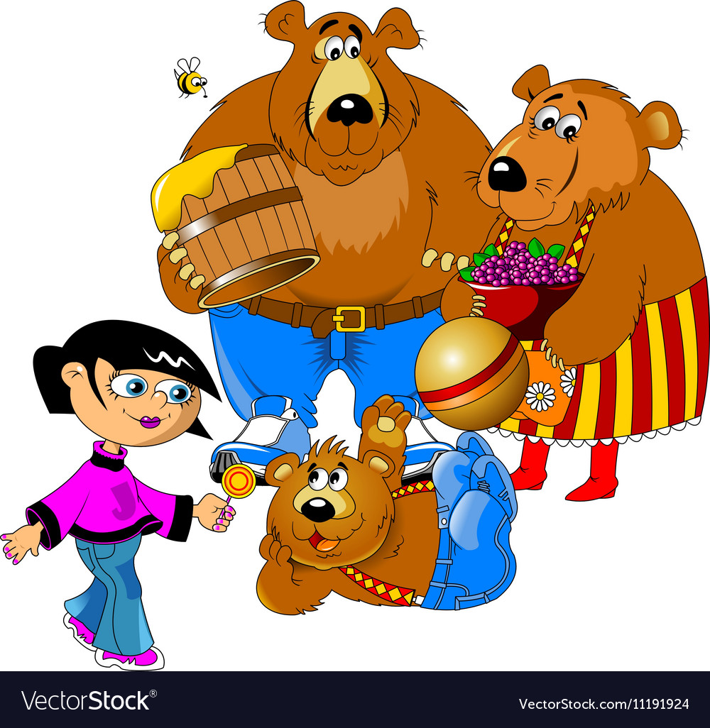 Girl and the three bears