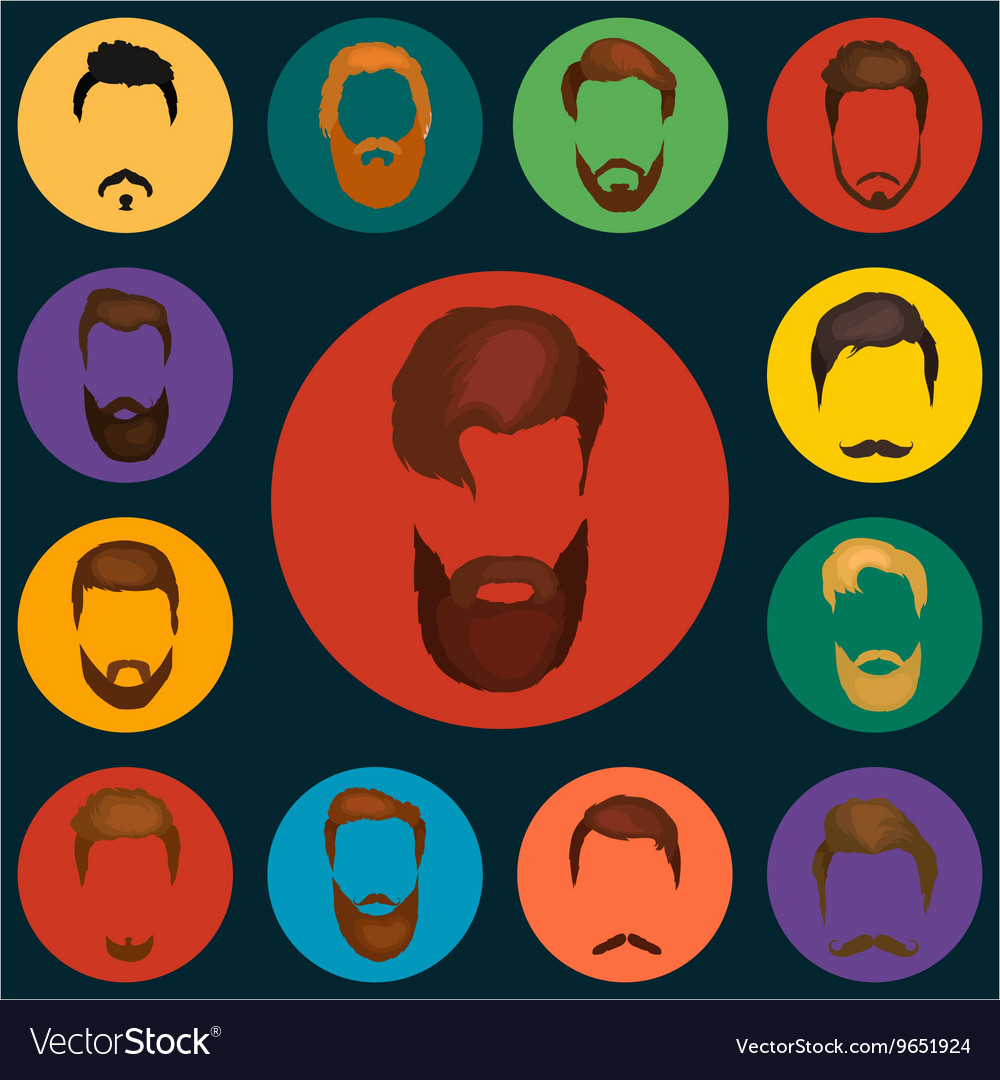 Mans trendy haircut types for barber shop